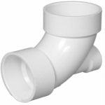 Pipe Fitting, PVC DWV Lowheel Inlet Elbow, 3 x 3 x 1-1/2-In.