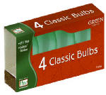 Christmas Lights Replacement Bulb, C9, Green Ceramic, 4-Pk.