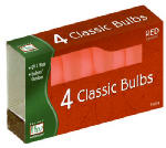 Christmas Lights Replacement Bulb, C9, Red Ceramic, 4-Pk.