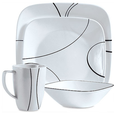 Quick View  sc 1 st  Midland Hardware & Corelle Square Dinnerware Set 16 Piece 1069983