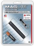 Solitaire Incandescent Flashlight, 2-Lumens, Black Aluminum