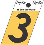 1-1/2-Inch Black/ Gold Aluminum Adhesive Angle Cut 3, Must Purchase in Quantities of 10