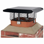 Chimney Cap, Black Steel, Multi-Fit, Rectangular Or Round