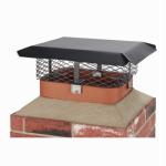 Chimney Cap, Black Steel, Large Multi-Fit