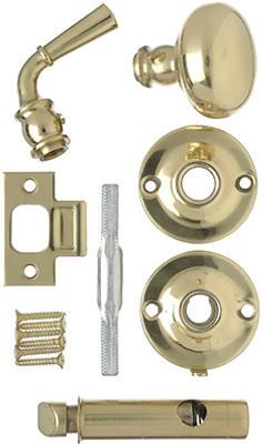 Hampton Products Screen Door Knob Latch Polished Brass V2200BR