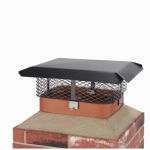 Chimney Cap, Black Steel, Large Multi-Fit, 5/8-In.