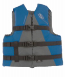 Watersport Vest, Blue Nylon, Fits Youth 50 To 90-Lbs.