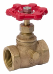 Threaded Stop & Waste Valve, Lead-Free Brass, 1/2-In.