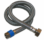Faucet Connector, Stainless-Steel, 3/8-In. Compression x 1/2-In. Female Iron Pipe x 24-In.