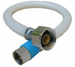 Faucet Connector, Flexible Poly, 3/8-In. Compression x 1/2-In. Iron Pipe x 16-In.