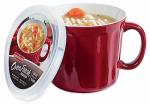 Soup Crock, Red Ceramic, 16-oz.