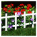 White Border Fence, 14 x  33-In. L, 4-Pk.