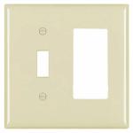Ivory 1-Toggle & 1 Decorator Opening Urea Wall Plate