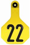 All American Livestock Tag, Numbered, Medium, Yellow, 25-Pk.