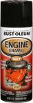 Engine Spray Enamel, Black Gloss, 12-oz.