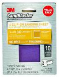 SandBlaster Sanding Sheets, 180-Grit, 10-Pk.