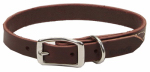 Dog Collar, Leather, 3/4 x 20-In.