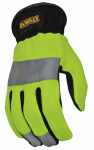 Hi-Visibility Work Glove, Synthetic Leather, Large