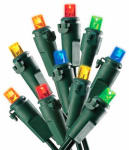 Christmas Lights Set, Indoor or Outdoor, Battery-Operated, Micro Multi-Color LED, 50-Ct.