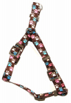 Dog Harness, Adjustable, Dot, Pink Nylon, 3/8 x 12-18-In.