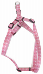 Dog Harness, Adjustable, Dot, Pink Nylon, 5/8 x 16-24-In.