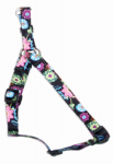 Dog Harness, Adjustable, Wildflower, Nylon, 5/8 x 16-24-In.