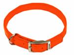 Dog Collar, Safety Orange, 1 x 20-In.