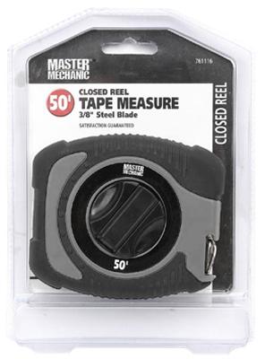 Master Mechanic Closed Reel Steel Tape Rule 3/8 x 50 ft  163009