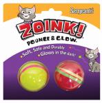 Zoink Cat Toy, Glow Ball, 2-Pk.