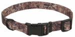 Dog Collar, Adjustable, Mossy Oak, 1 x 14-20-In.