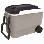Maxcold Ice Chest, Wheeled, Ice Blue & White, 40-Qts.