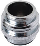 Chrome Plated Brass Adapter, Lead Free, 15/16-In.