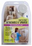 Snap 'N Spray Shower Sprayer, Detachable 6-Ft. Hose