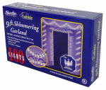 Pre-Lit Christmas Garland, Shimmering Clear, Indoor & Outdoor, 100-Ct., 9-Ft.
