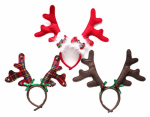 Christmas Antler Headband, Felt, 9-In., Must Purchase in Quantities of 6