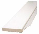 Garage Door Weatherstripping, White PVC, 2-In. x 7-Ft.