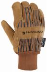 Work Gloves, Brown Suede Knit, Medium