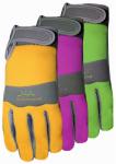 Max Performance Work Gloves, Green & Tan, Women's L