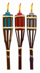 Garden Torch, Bamboo, Assorted Macedonia Colors, 3.75 x 3.75 x 24-In.
