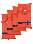 Life Vest, Adjustable, 4-Pk.