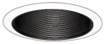 Coilex Baffle, Black With White Trim Ring, 6-In.
