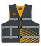 Classic Floatation Vest, Black & Yellow, Adult