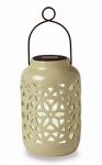 Housing Solar Lantern, Ceramic, 9.25 x 5.91-In., Must Purchase in Quantities of 4