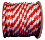 5/8x200 RED/WHT Rope