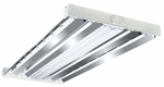 Metalux F Bay Fluorescent Light Fixture, T5, 4-Lamp, 2 x 4-Ft.