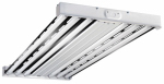 Metalux F Bay Fluorescent Light Fixture, T5, 6-Lamp, 2 x 4-Ft.