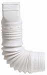 Flex-A-Spout Down Spout Adaptor, White, 3 x 4-In.