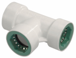 Underground Sprinkler Tee, 1/2-In. PVC Lock