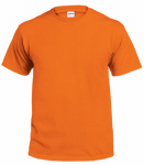 T-Shirt, Short-Sleeve, Safety Orange Cotton, XXL, Must Purchase in Quantities of 2