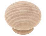 Cabinet Knob, Round, White Birch, 1.5-In., 10-Pk.